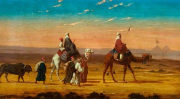 Warren, Henry; A Caravan in the Desert; Paintings Collection; http://www.artuk.org/artworks/a-caravan-in-the-desert-32399