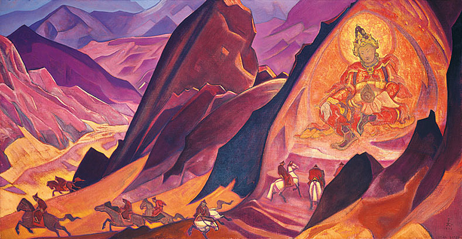 """Картината на Н.К.Рьорих """"Заръка на Ригден Джаппо"""""""