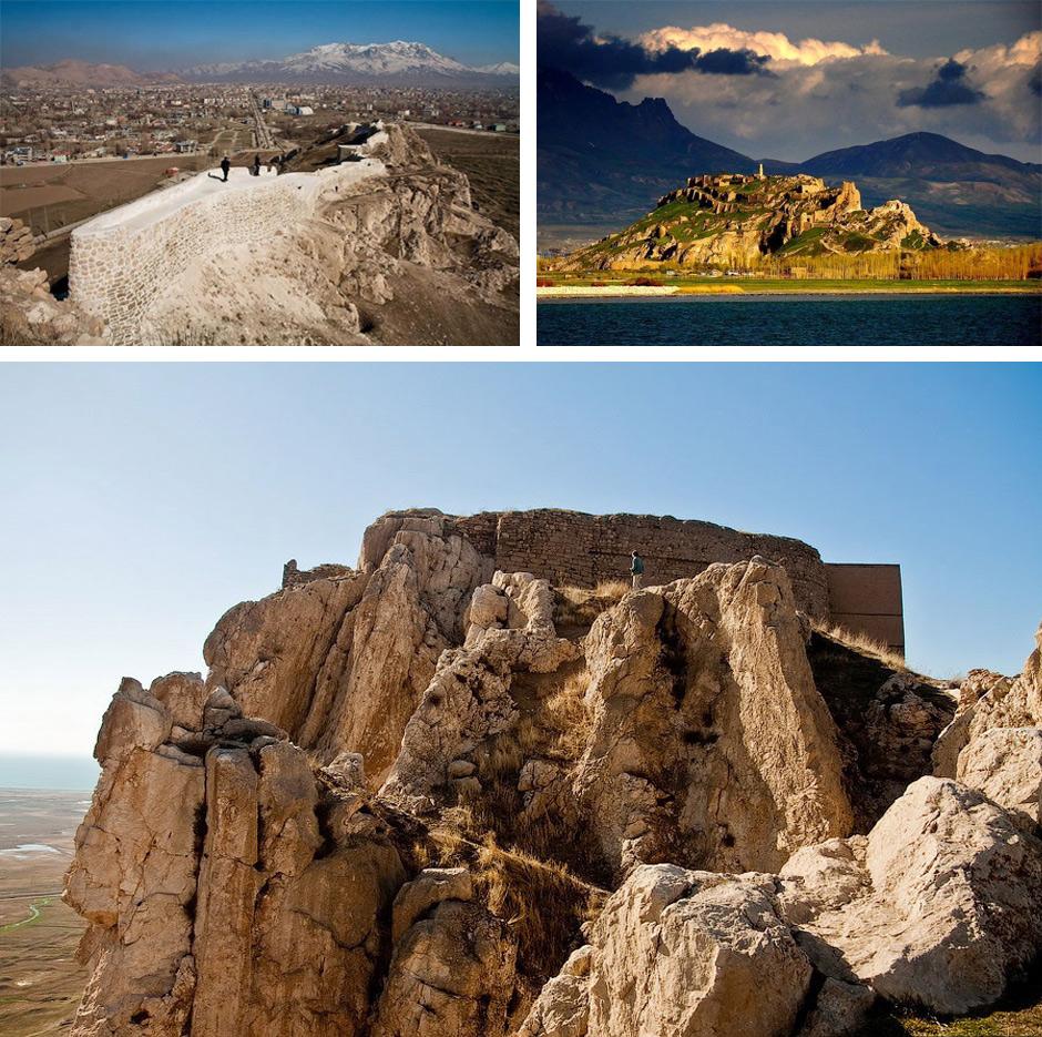 Крепостта на град Ван на брега на езеро Ван днешна Турция